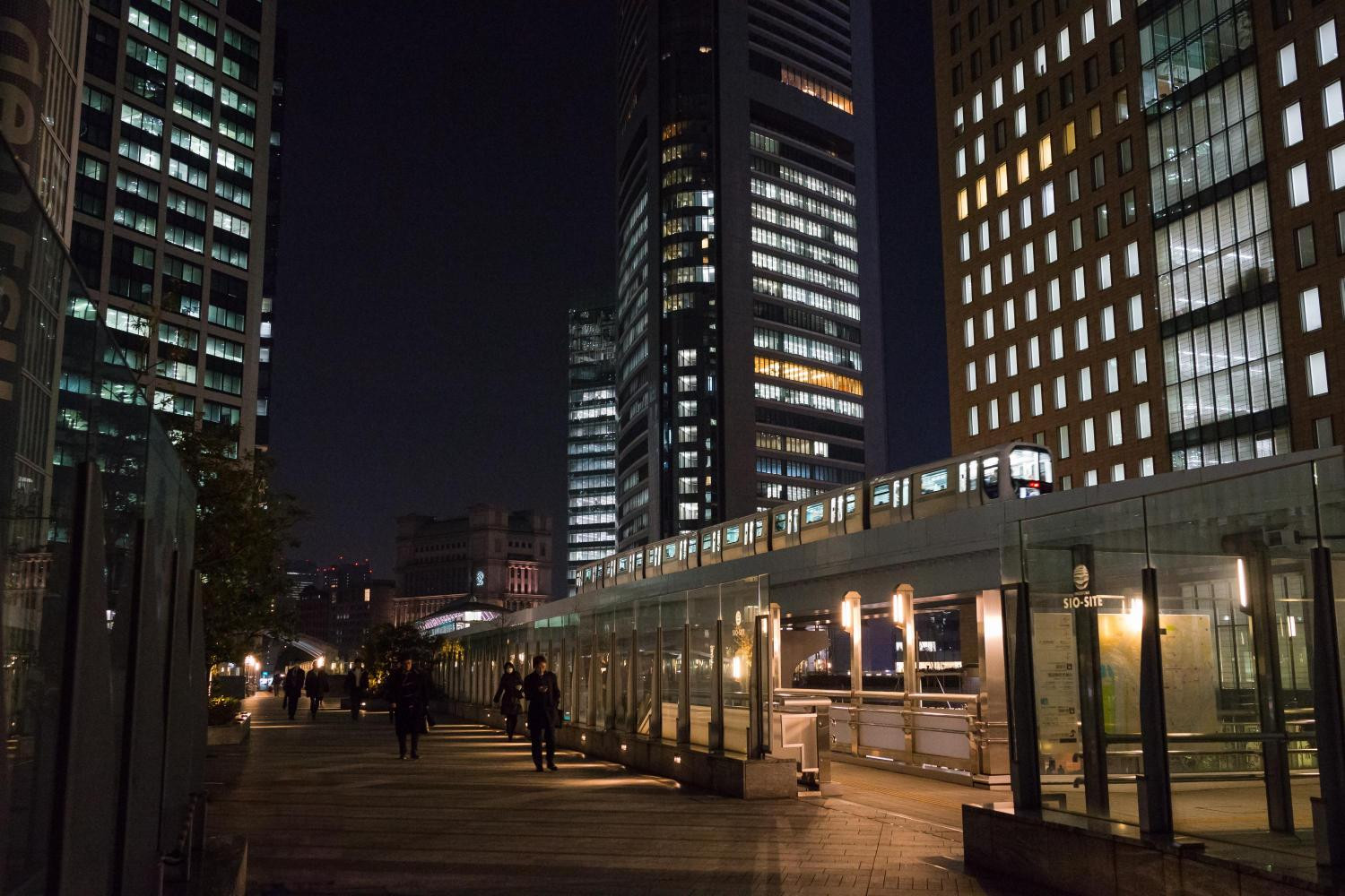 Night View Of Shiodome Siosite Ambassadors Japan